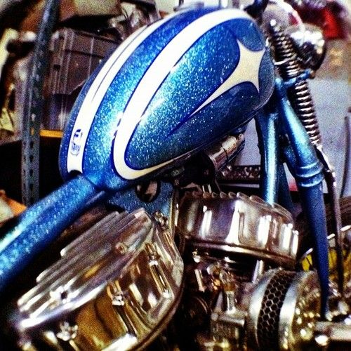 HD Panhead engine. Replacing the Knucklehead engine in 1948, manufactured through 1965, then replaced by the Shovelhead....no matter what year, the Panhead is a fine little gem of engineering