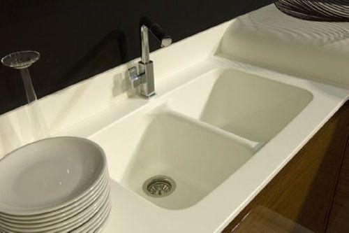 Wonderful Staron® Benchtop Featuring An Integrated Staron® Sink
