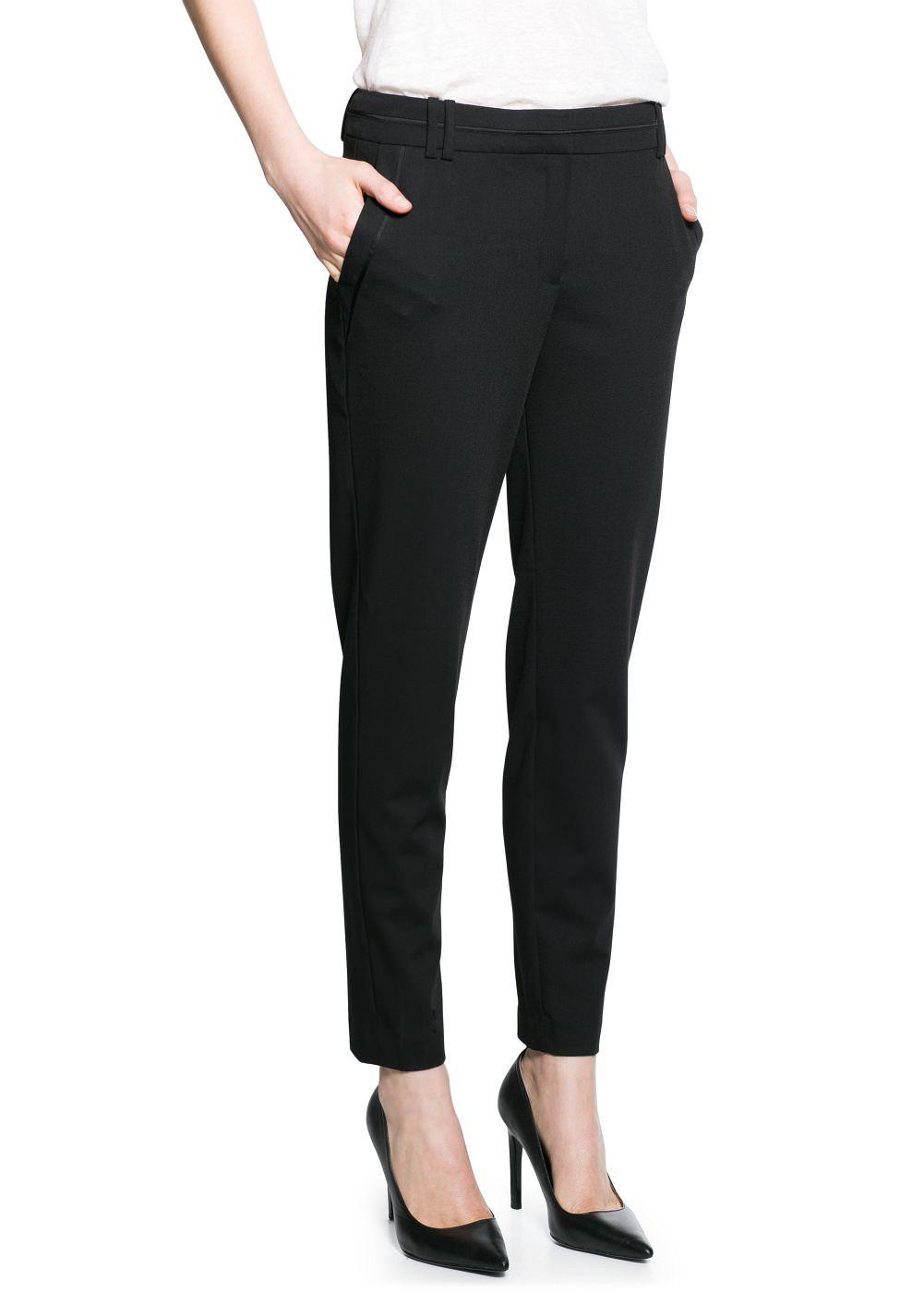 0f36897084 Pantalón traje pitillo - Mujer