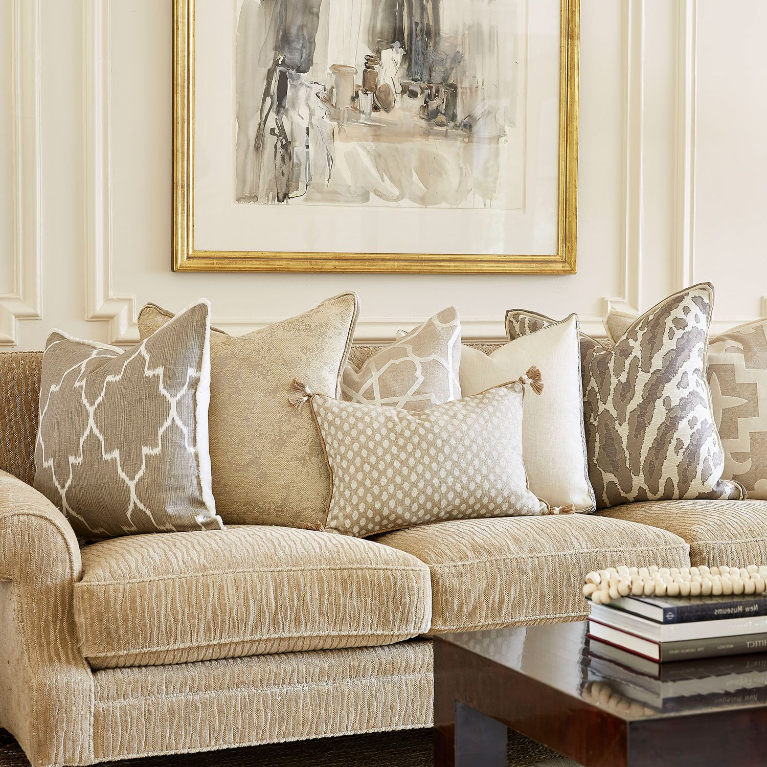 Lacefield Monaco Tan Throw Pillow @LaylaGrayce | {Pillows ...
