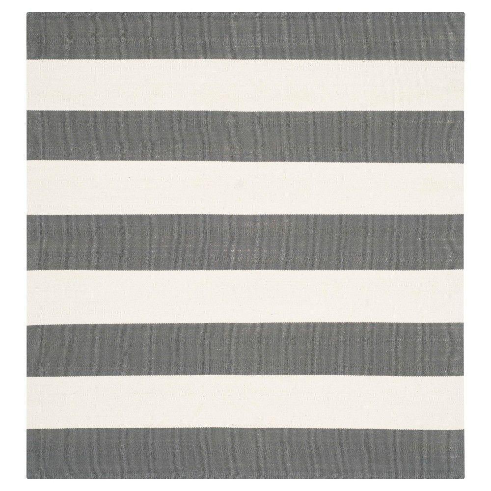 Safavieh Mati Flatweave Area Rug - Grey / Ivory (4' X 4')