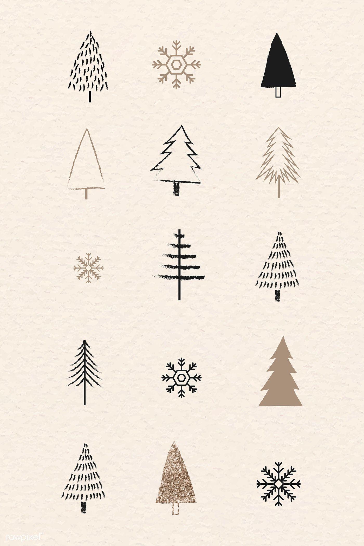 Download premium vector of Christmas elements dood