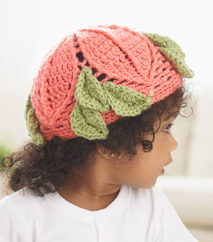 Caron International | Free Project | Leaf it to Me Baby Hat ...
