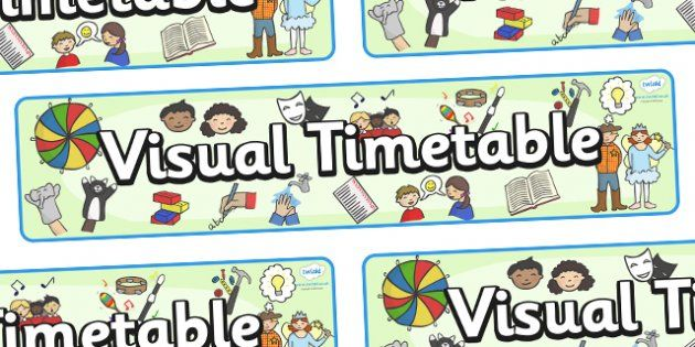 Visual Timetable Display Banner - KS1, display banner, learning - daily timetable