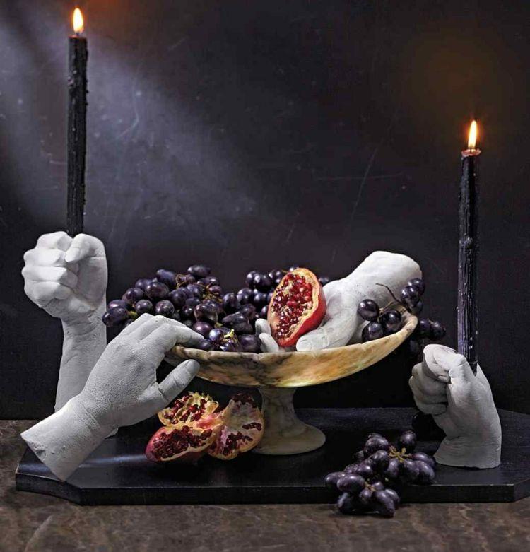 Gips Hände Als Kerzenständer Verwenden Diy Gips Basteln