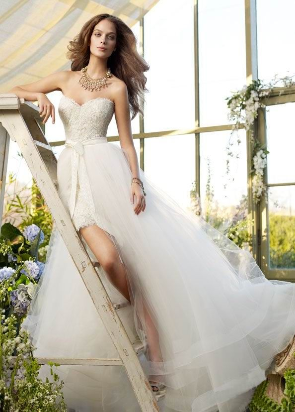 Royal Princess Strapless high-low Vintage Wedding Dresses UK ...