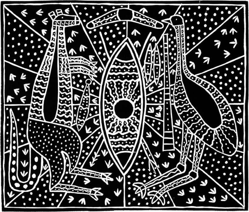 Aboriginal art black and white only