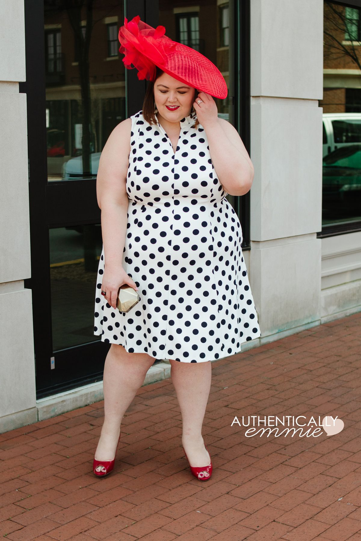 Derby Day Outfit Idea: Red Hot and Polka Dots | Derby ...