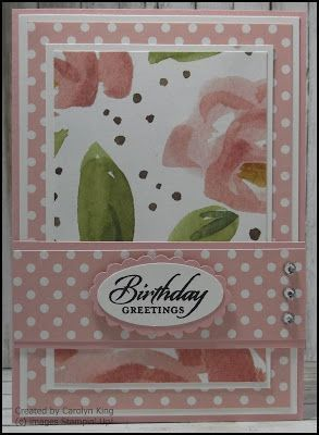 card from King's On Paddington ... pinks in coordinating papers ... luv how she features a large print patterned paper without letting it overwhelm the card ... Stampin' Up!greeting card from King's On Paddington ... pinks in coordinating papers ... luv how she features a large print patterned paper without letting it overwhelm the ca...