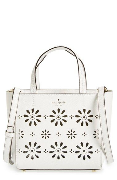 kate spade new york 'faye drive - small hallie' perforated leather crossbody bag