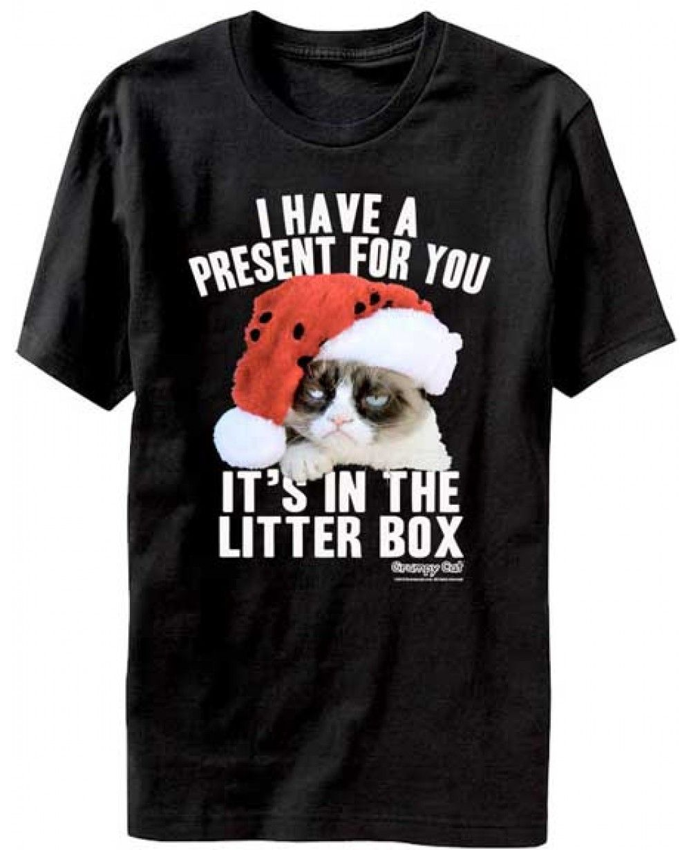 f3b992bec Grumpy Cat Litter Box Christmas T-Shirt | Virtual Closet / Clothes ...
