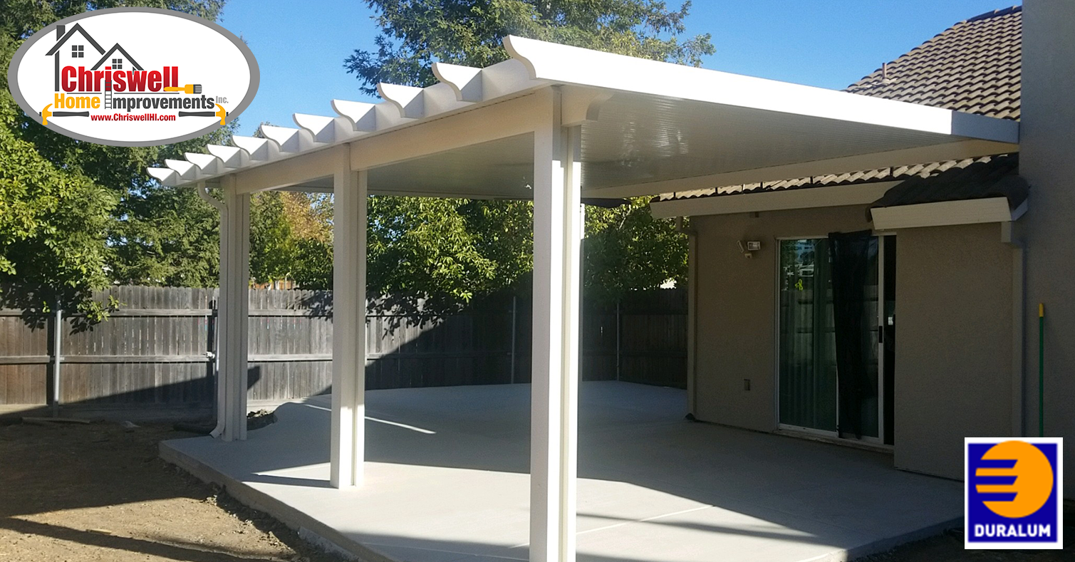 Duralum Solid Patio Cover Roof Mounted Covered Patio Lattice