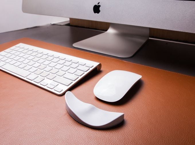 The First Fully Ergonomic Mouse Pad Designed For The Apple Mouse Diy Mouse Pad Mouse Pad Design Mouse