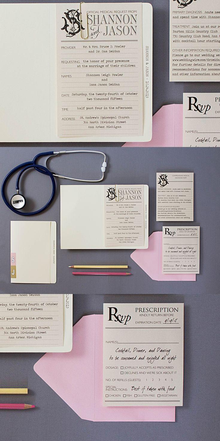 Medical Themed Wedding Invitations   Pinterest   Response cards ...