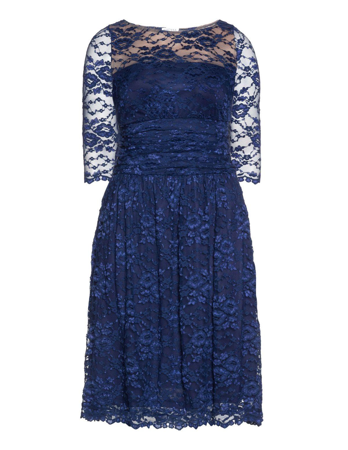 Kleider dunkelblau spitze