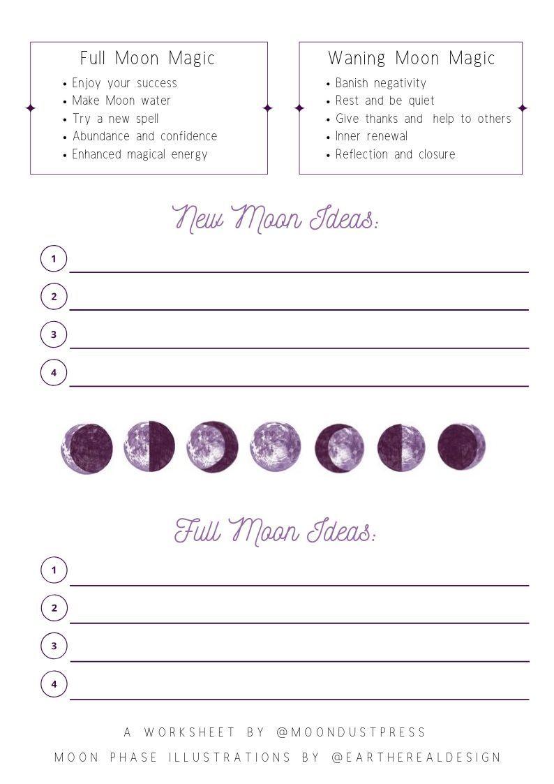 Moon Magic Worksheet Worksheets Teacher Worksheets Printable Worksheets [ 1123 x 794 Pixel ]