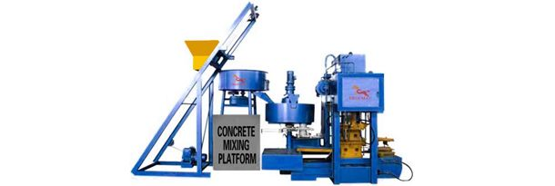 Concrete Roof Tile Forming S Raw Material Be Provided And Fed In Concrete Grind Mixer By Lift Bucket