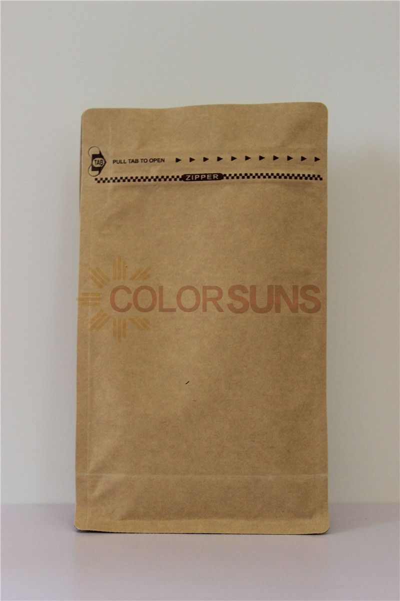 1 Craft Paper Coffee Bag Cpz250 With Coffee Valve Or Without