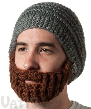 Beardo Beard Hat - Detachable, non-itchy beard would be perfect for snowboarding. Gray and Brown colors for sure