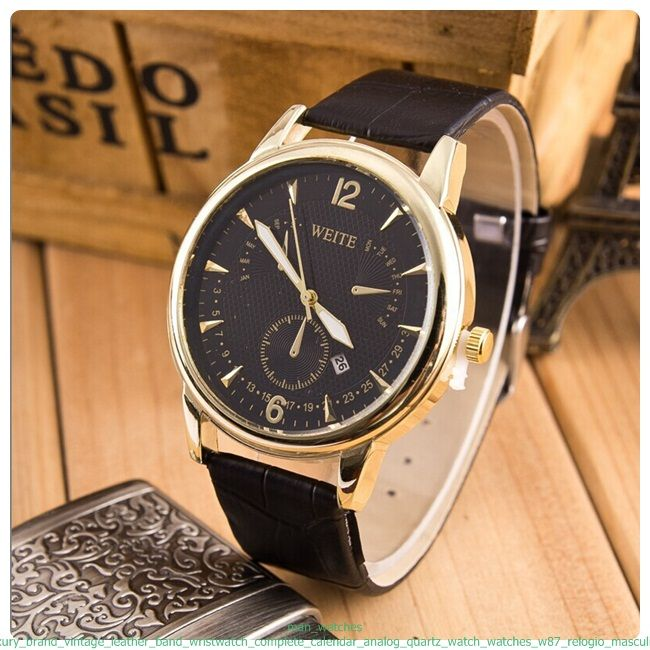 analog aed watch item uae xl ae for leather watches en buy weite casual men i