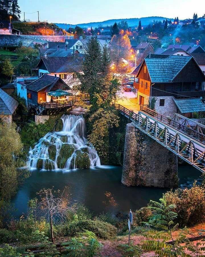 Amazing Places To Go Europe: Natural Phenomenon, A Small Village Of Water Mill, Rastoke