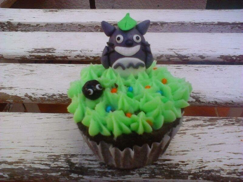 El Bote de las Galletas: Cupcake totoro