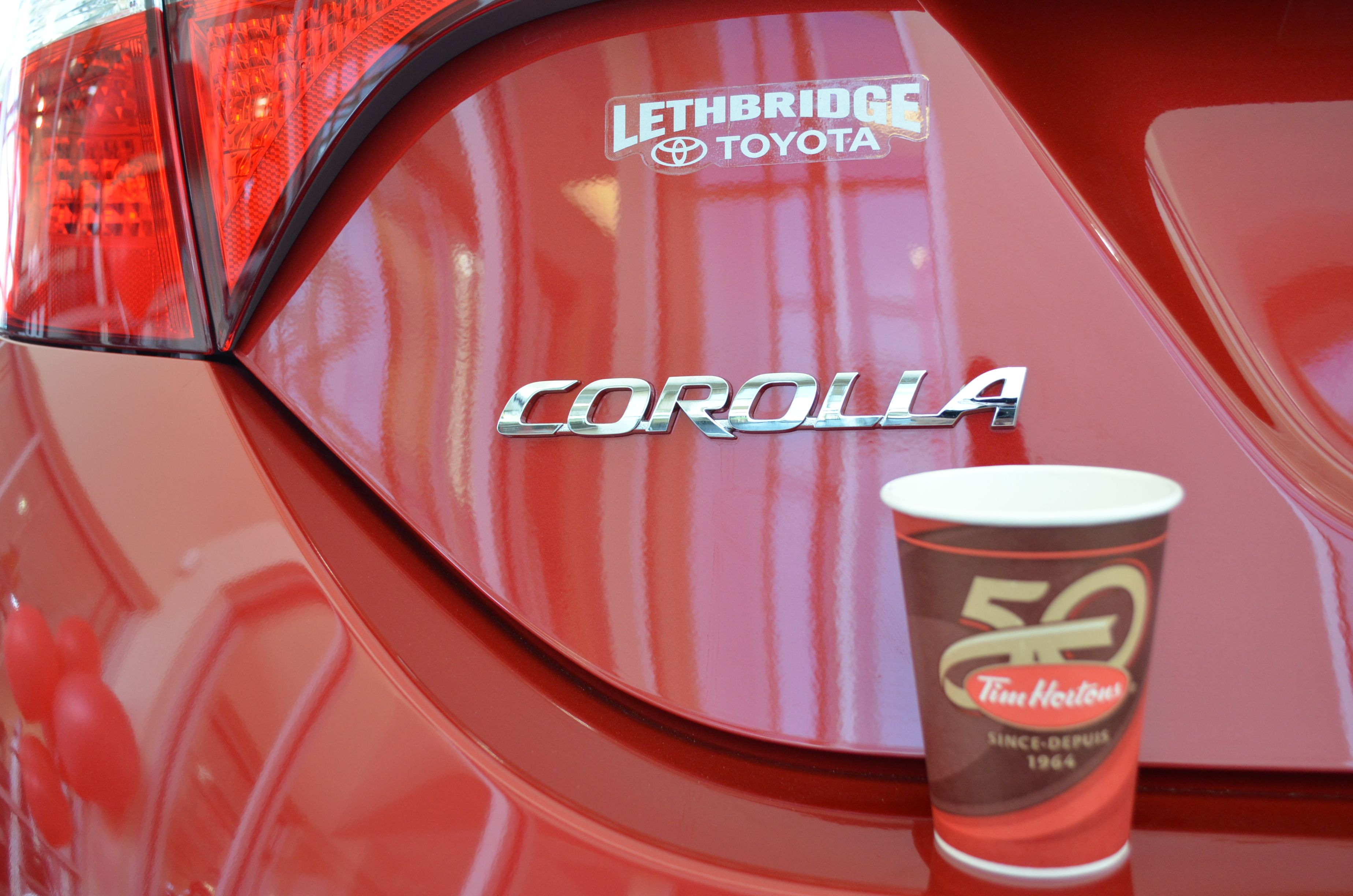 "Congratulations to Lethbridge's two grand prize winner's in this year's ""Roll up the Rim to Win"" contest at Tim Horton's"