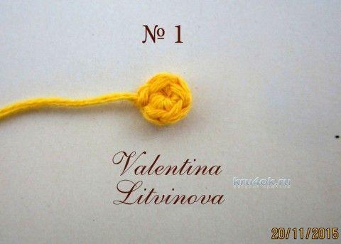 Maestro - clase de Valentina Litvínova Flor pensamientos tejido de punto y ganchillo esquema