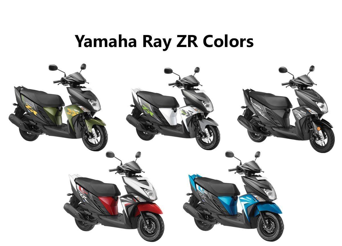 Yamaha Ray Zr Colors Dark Night Matt Green Fizz White Red Blue Gaadikey Yamaha Dark Night Color