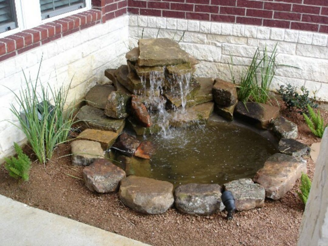 Marvelous Small Front Garden Design With Waterfall Ideas 0708