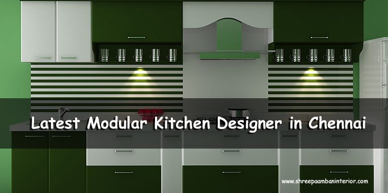 Our modular kitchens are well equipped with modern matching appliances as well as high-end design. #LatestModularKitchenDesignerInChennai  #ShreePaambanInterior