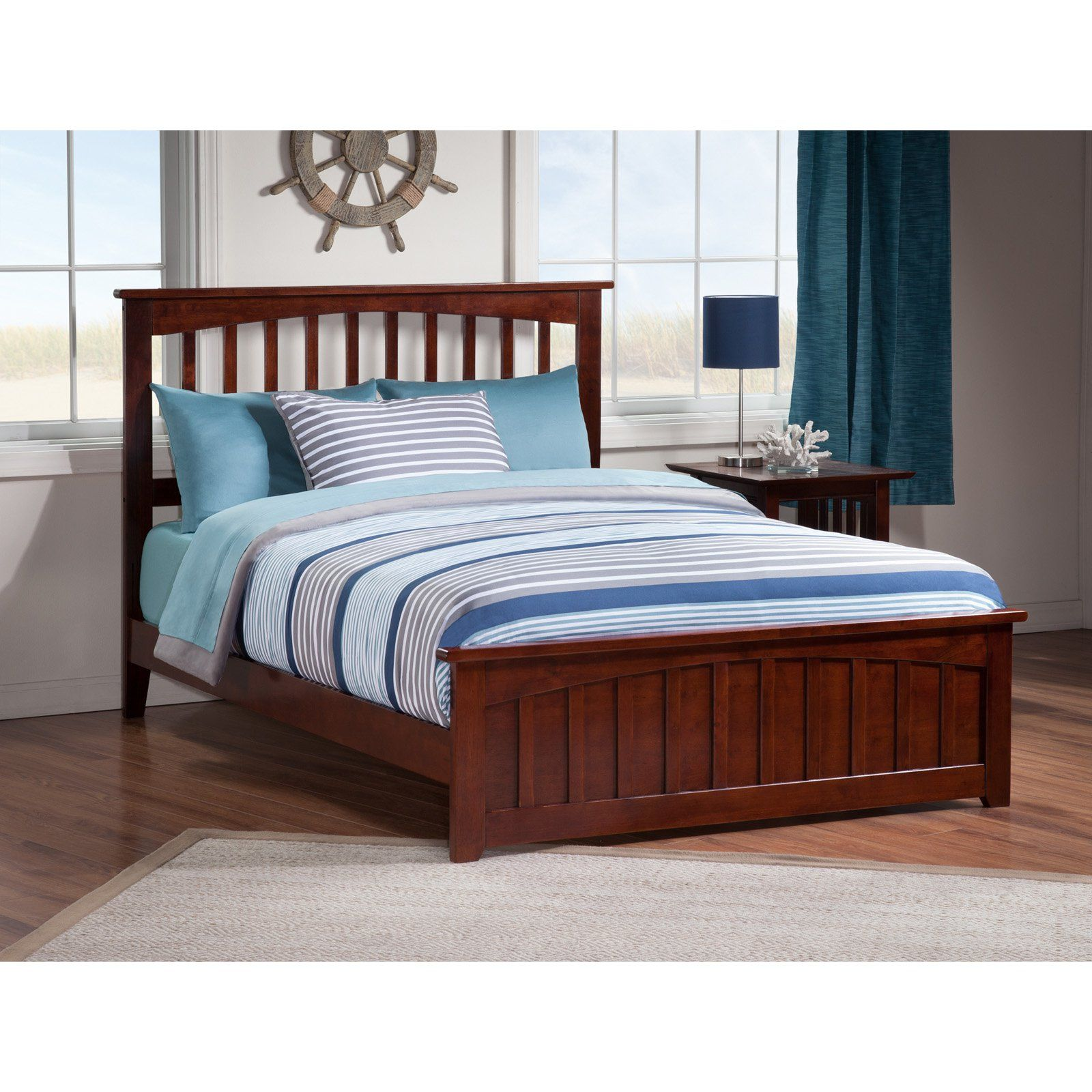 Atlantic Furniture Mission Bed With Matching Footboard Atlantic