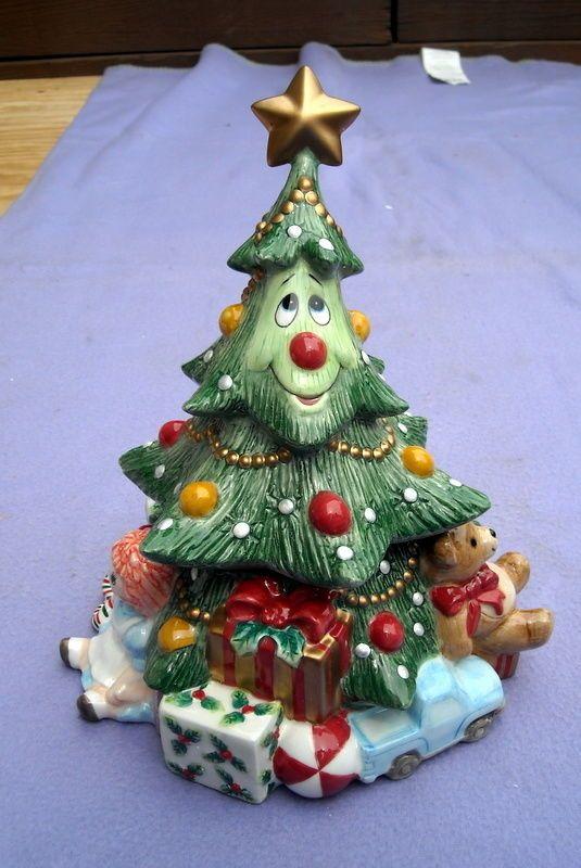 Fitz And Floyd Wee Christmas Tree Cookie Jar With Original Box Christmas Cookie Jars Fitz And Floyd Cookie Jars Vintage