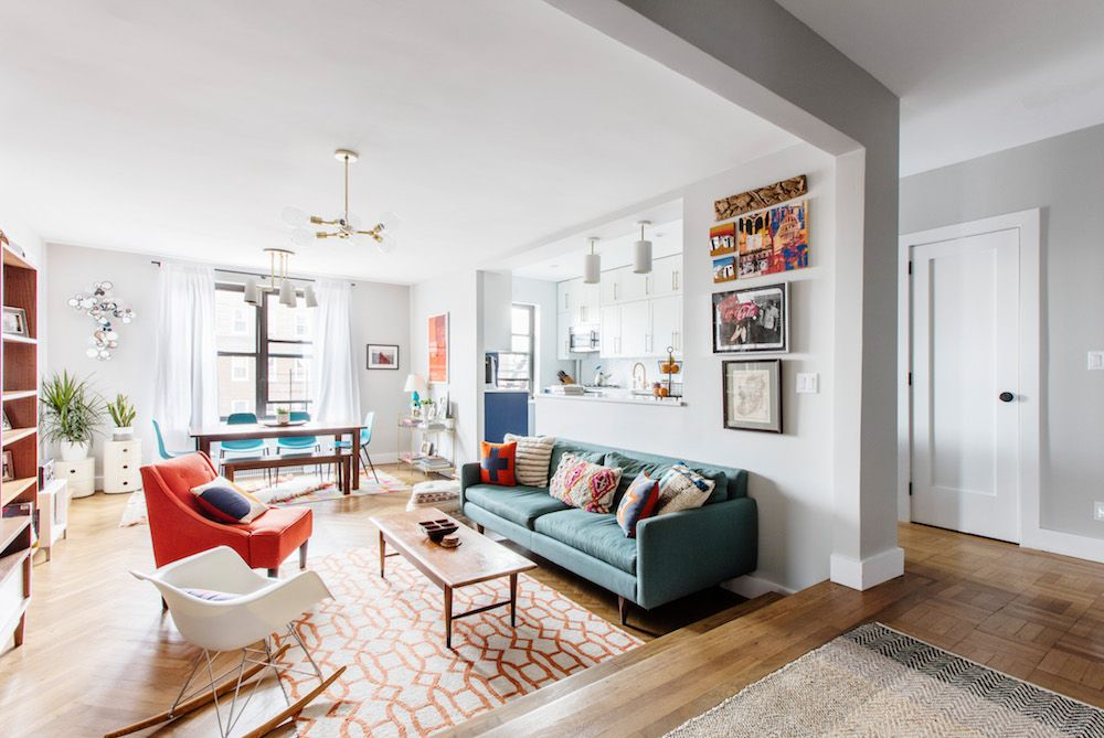 A Co Op Takes The Spotlight That S A Wrap Eclectic Living Room Apartment Renovation Living Room Styles #spotlight #in #living #room