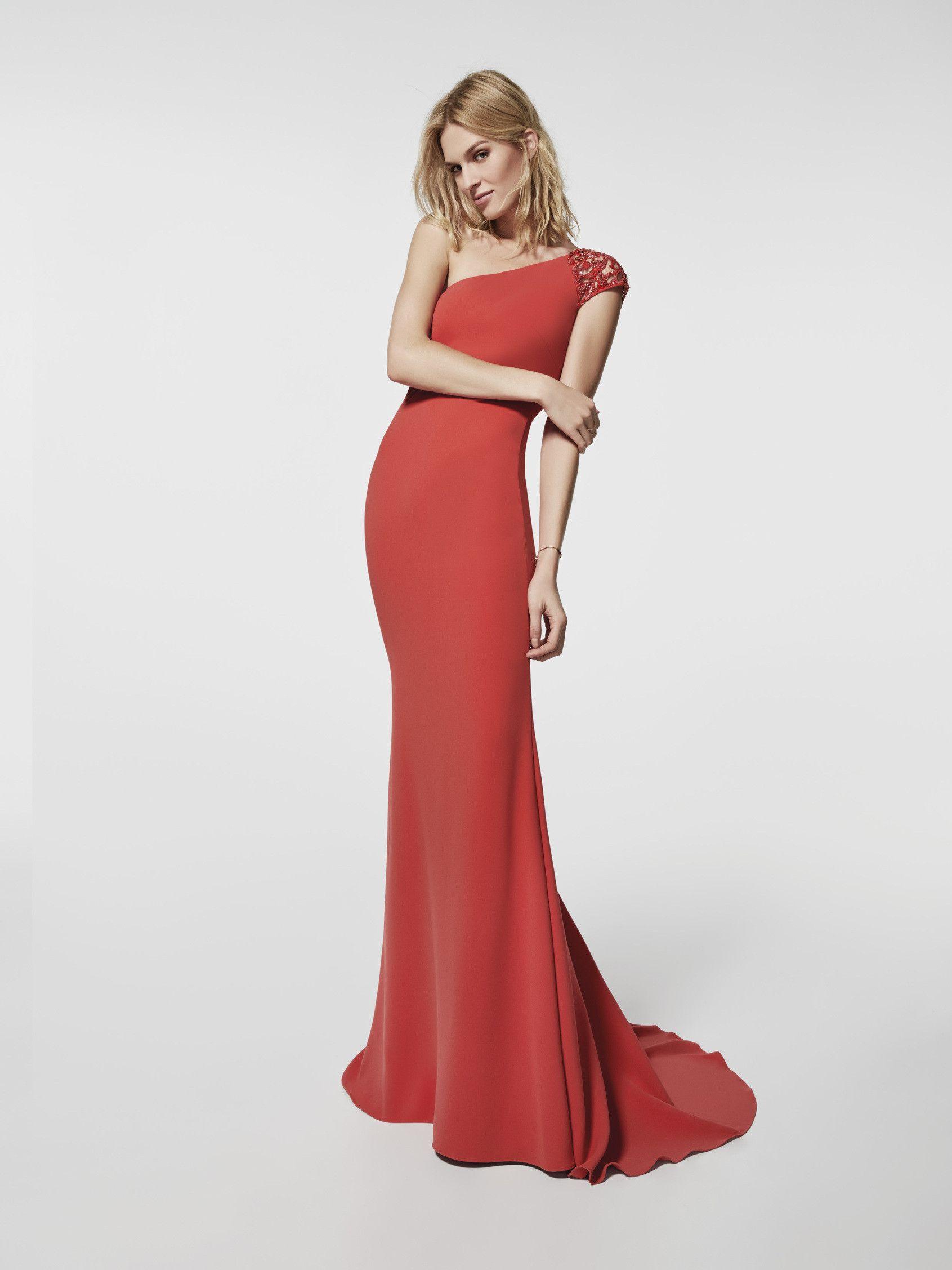 Cocktail Dress Grado Model In Red With A One Shoulder Neckline At The Front And Back Short Mermaid Sl Vestidos Vestidos De Noite Estilos De Vestido De Noiva