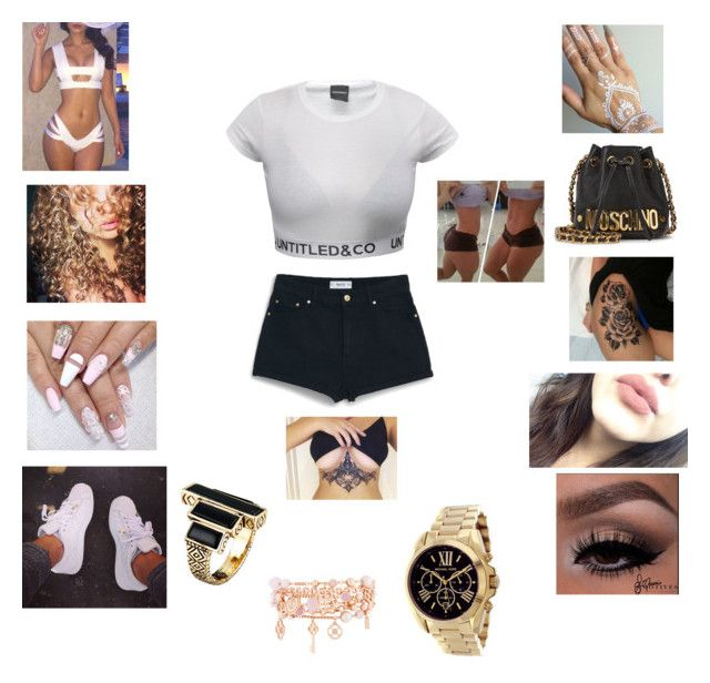 """"""""""" by saralore ❤ liked on Polyvore featuring MANGO, Moschino, adidas, Henri Bendel, Michael Kors and House of Harlow 1960"""