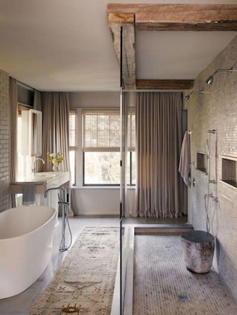 47+ Awesome Farmhouse Bathroom Tile Floor Decor Ideas and ... on Farmhouse Tile Bathroom Floor  id=44241