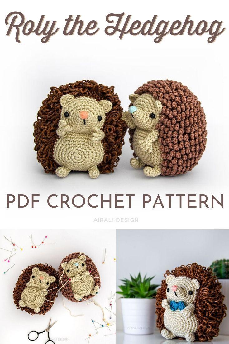 Mini Amigurumi Hedgehog Crochet Pattern