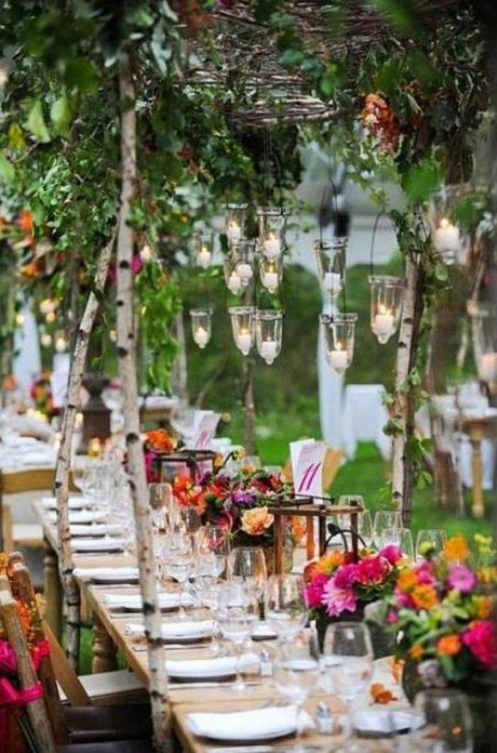 Rustikal Gartenparty Deko Ideen