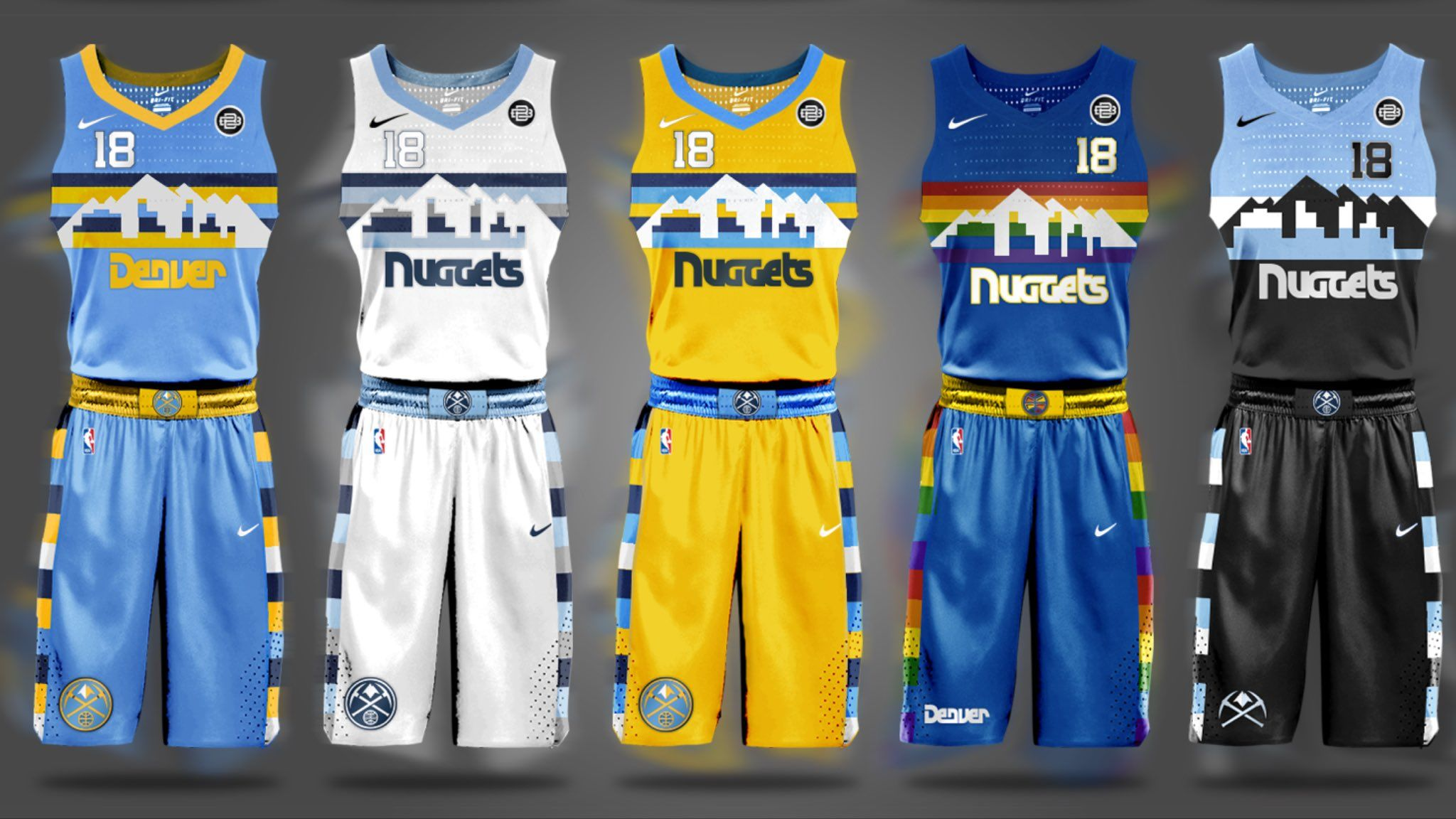 These fan-made Denver Nuggets jersey designs are the best you'll see -  Denver Stiffsclockmenumore-arrow : … | Jersey design, Basketball uniforms  design, Nike jersey