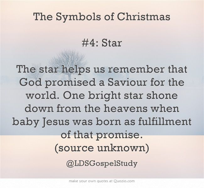 The Symbols Of Christmas 4 Star The Star Helps Us Remember That
