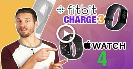 Fitbit Charge 3 vs Apple Watch 4 Review (Best Fitness Watch Comparison 2019) #fitness #fitnesswatchc...