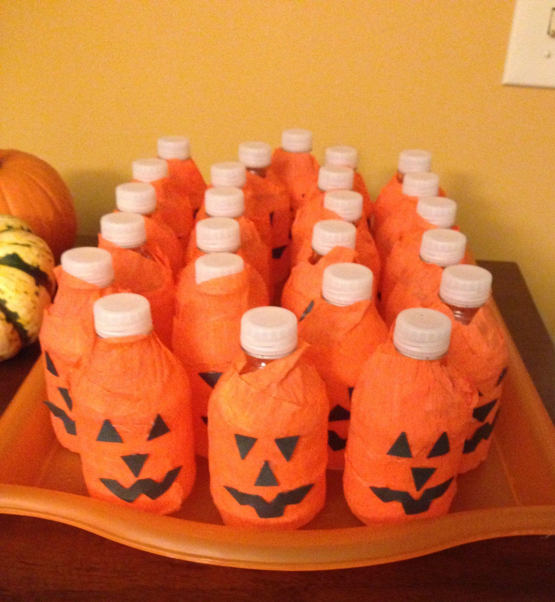 Jack O Lantern Water Bottles - Pumpkin Water Bottles - Healthy Halloween