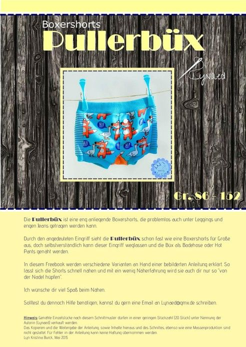 unterhose boxershort badehose short vielseitiges sm 86 152 freebook pullerb x lynaed. Black Bedroom Furniture Sets. Home Design Ideas