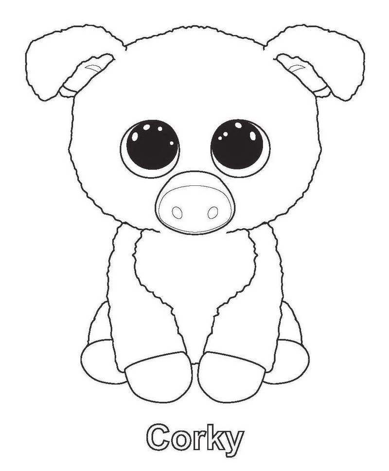 Pin On 50 Beanie Boo Coloring Pages