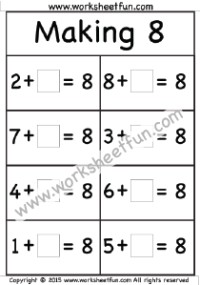 Addition Missing Addend Free Printable Worksheets Kids Math Worksheets Math Folders Worksheets