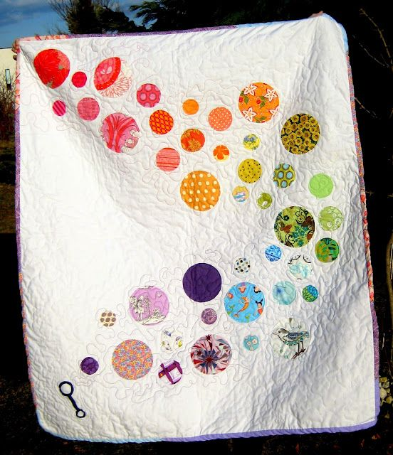 Bubble Trail baby quilt.