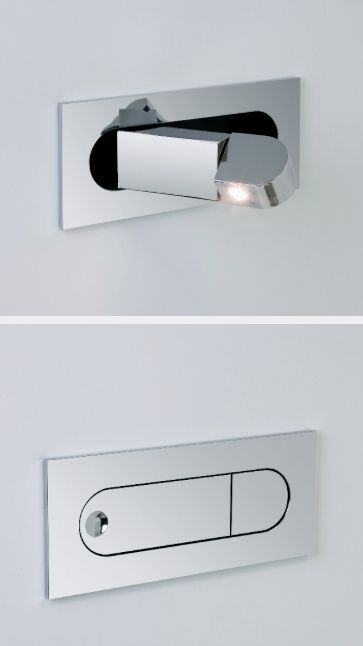 modern led flush mount bedside reading light sexy techie. Black Bedroom Furniture Sets. Home Design Ideas