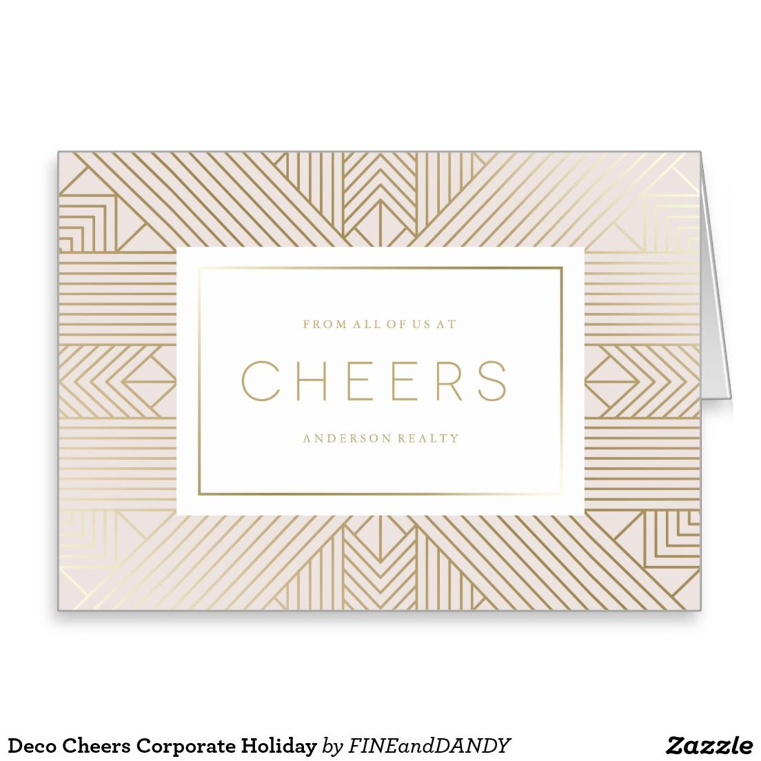 Deco Cheers Corporate Holiday Simply Christmas Cards Pinterest