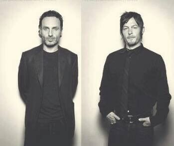 grafika norman reedus and andrew lincoln